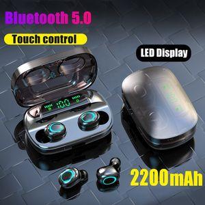 البنك S11 TWS سماعات الأذن بطارية 3500mAh الطاقة سماعة LED العرض بلوتوث 5.0 سماعات لاسلكية HIFI قمار سماعة ستيريو مع هيئة التصنيع العسكري