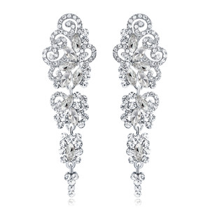 New Bridal Earrings with Crystals Rhinestones Water Drop Earring Bridal Jewelry Findings Wedding Accessories For Brides BW-042