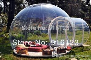 0,3 mm de PVC tienda al aire libre de la burbuja de camping, claro carpa de césped inflable, tienda de burbujas