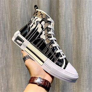 Dior b23 shoes 2020 Top hochwertiger 19SS Blumen technische Leinwand B2 B24 schräg Herren-Marke High-Top Sneaker B2 Marke Designer-Schuhe Damen neu
