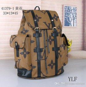 L Marken ZACK Rucksack echtes Leder Rucksack Qualitäts-Echtleder Rucksäcke Designer Marken Herren Rucksack Größe 45 * 33 * 13cm Tasche