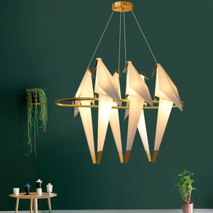 Modern Bird Pendant Lamp LED Golden Art Villa Hotel Home Decor Chandelier Ceiling Light Fixture PA0002