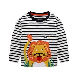Jungen Neue 2019 Tees Tops Für Jungen Kleidung Tiere Cartoon kinder T shirts Kinder T für Frühling Herbst T shirts