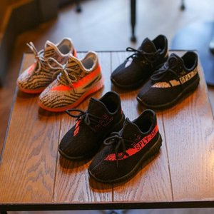 New Kids Running Designer Shoes Sneakers Baby Toddler Kanye West Run Shoes Infant Children Boys Girls Chaussures Enfant sports shoes