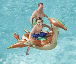 198см 78-дюймовые надувные доисторические динозавры Rider с ручками самодвижущегося Float бассейна для детей плавать воды игрушка Матрас Fun Пляж Буя