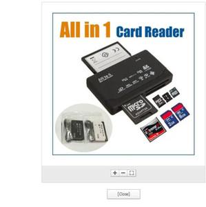 DHL expédition rapide All-in-1 Portable All In One Mini lecteur de carte multi en 1 carte mémoire USB 2.0 Lecteur DHL plus populaire