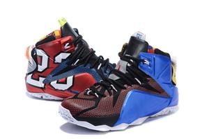 Lebron 12 mens basketball shoes 판매 MVP 크리스마스 BHM 블루 부활절 할로윈 Akronite DB 청소년 아동 운동화 부츠 크기 7 12