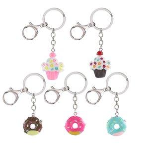Colorful Donut Ice Key Chain torta alla crema Portachiavi Nuovi monili per il sacchetto donne Ciondolo auto Portachiavi Portachiavi