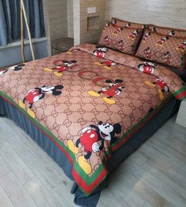 New Branded Cotton Bedding Set Adult Classic Embroidery Duvet Cover Bed Home Sheet Two Pillowcase Soft Bedclothes
