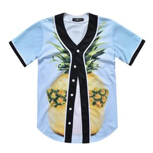New Style Man Baseball Jersey Sport Shirts 3D Fashion With Button Good Quality 34
