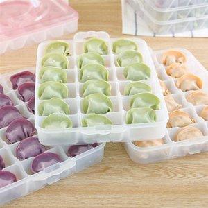 Refrigerator Fresh-keeping Dumpling Storage Box Four Layers Portable Stackable Dumpling Container Holder Organizer