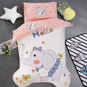 Bambino e una ragazza Cartoon Bedding Set puro cotone Presepe Bedding Set Culla biancheria comprende federa lenzuolo Quilt Cover