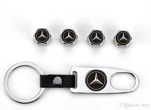 4 Pcs Car válvula do pneu da roda Caps Tire Stem ar Caps chaveiro para Mercedes-Benz
