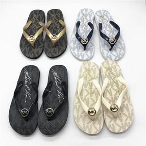 Designer Femmes D'été Pantoufles Grand Mental Logo Flip Flop Haute Qualité Filles D'été Chaussures Logo Imprimé Femmes Sandale 4 Couleurs Sœur Match