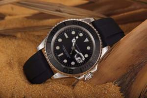 40 mm de alta calidad Negro Cara de cerámica bisel de oro rosa caja del caucho de banda reloj automático 116655 reloj mecánico YM Relojes