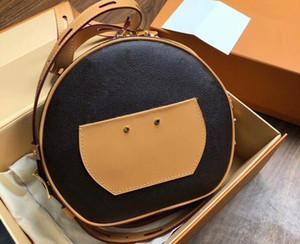 Toz Torbalı, DHL Ücretsiz Kargo ile Realfine888 5A M52294 22.5cm Boite Chapeau SOUPLE Momogran Canvas Omuz Çantası,