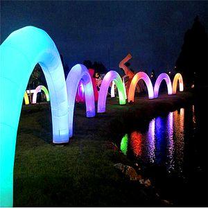 4m alta inflável Balão Inflável Arch Com Faixa de LED Para o Stage Show Evento partido da música