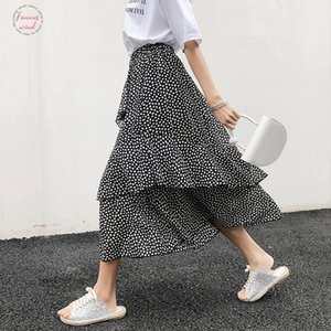 Mrmt 2019 Brand New Women Half Body Skirt Leisure Wave For Female Irregular Half Body Calf Skirt Drop Shipping