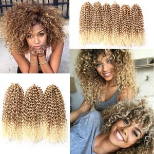 Cheveux au crochet Marlybob de 10 pouces 3 petits paquets / lot Tresses au crochet Jerry Extensions de cheveux bouclés Cheveux synthétiques tressés (27/613 #)