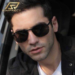 SIMPRECT alluminio magnesio Occhiali da sole polarizzati Uomini 2020 fotocromatici Occhiali da sole Retro antiriflesso Occhiali da sole per gli uomini del conducente