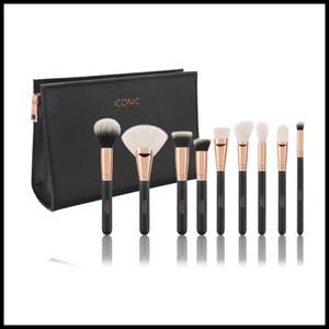 ICONIC LONDON HD High-Definition-Gesichts-Make-up Pinsel Set 9pcs / 7PCS / 12PCS Foundation Pinsel Concealer Pinsel mit Retail Free Drop Shipping