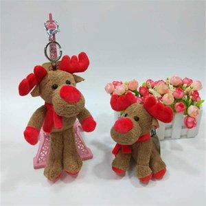 Peluche Fawn Keychain Creative mignon Elk Figurine clés de voiture Sac Boule de Noël Pendentif cadeaux jouets pour enfants