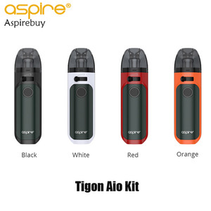 Aspire Tigon AIO Kit 1300mAh Bateria 4,6ml Vape Pod com cigarro Tigon Bobinas Tigon AIO Pod eletrônico Kit Type-C Charging 100% Original