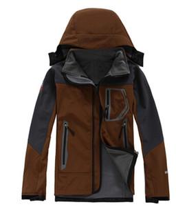 Hot 2020 Classic NF hombres de la marca equipoen cara Polartec con capucha de la chaqueta del softshell de deportes masculino impermeable a prueba de viento y transpirable winace chaquetas de esquí