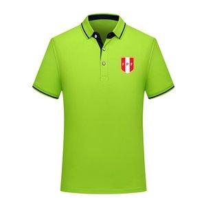 Peru 2020 milli takım yaz pamuklu futbol polo gömlek erkekler kısa kollu yaka polo futbol erkekler polo gömlek eğitim forması Erkekler Polos