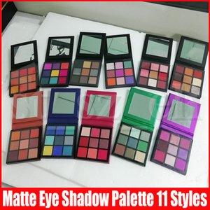 11 stili degli occhi trucco gamma naturale di 9 colori Long Lasting Shimmer Matte ombretti tavolozze