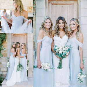 Baby Blue Mermaid Bridesmaid Dresses Off Shoulder Convertible Formal Maid Of Honor Dress Wedding Guest Dress robes de demoiselle d'honneur