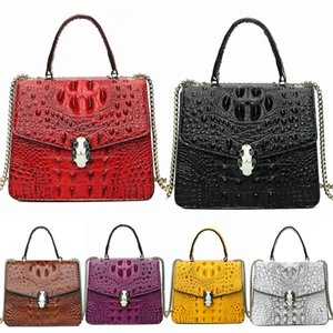 Luxury Crocodile Shoulder Bag Women Bags Designer Ladies High Quality Pu Leather Bag For Women 2020 Fashion Bee Decoration Famous Brands#346