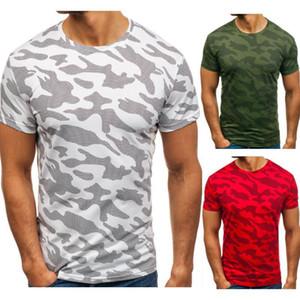 Камуфляж печати Mens конструктора Tshirts коротким рукавом Экипаж шеи Mens Базу Топы Мода Стиль Самцы Casual Tshirts