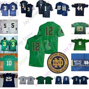 Notre Dame İrlanda Futbol Jersey NCAA Kolej Mike McGlinchey Will Fuller Smith Mantı Te'o Zack Martin Jones Rick Çamur Patulski Mücadele