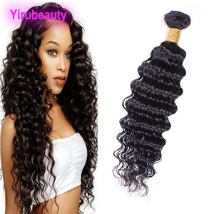 Indien Cheveux Raw Virgin Hair Bundle One Piece / lot 8-28inch Bundle vague profonde Cheveux Tissages Indian Trames Couleur naturelle unique Bundle profond
