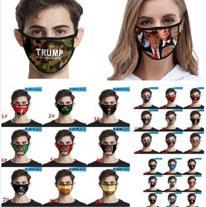 2020 Trump Pattern Face Mask Anti Dustproof Printing Ice Silk Mouth Mask Washable Protective MaskFor Adult Women Men HH9-3045