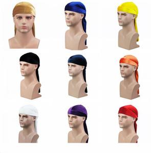Mens Velvet Durags Bandana Turbante cappello per le donne parrucche Doo uomini Durag motociclista Copricapo fascia Pirate Hat Du-RAG Accessori per capelli cappello cosplay
