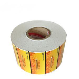 Laminado de etiqueta etiquetas personalizadas Impresso Food Packaging etiqueta adesiva com atacado
