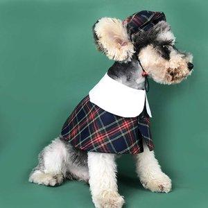 الكلاسيكية منقوشة مطبوعة الحيوانات الأليفة موضة القبعة نمط إنجلترا الكلب عباءة قبعات تعيين لطيف اللوازم تيدي أفطس الكلب