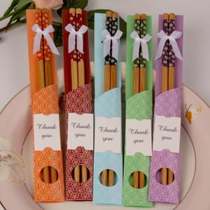 Bamboo Chopsticks Prático Chopstick Natural Woodiness New Style Chopsticks casamento personalizado favores brindes presente Atacado LX8733