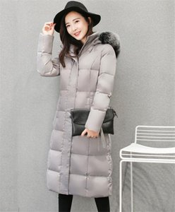 Duck White 2020 Fashion Down Jacket Women Long Parkas Real Fur Collar Hooded Warm Winter Coat casaco Inverno WXF410