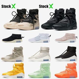 Nike Air Fear of god 1 String The Question Triple Black Zapatillas de baloncesto para mujer para hombre Shoot Around Zapatillas de deporte de diseño al aire libre
