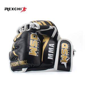 REXCHI Half Finger Gloves MMA per gli uomini PU Kicki Boxing Karate Muay Thai Guanti De Boxeo libero Combatti Sanda Formazione Attrezzature T191226