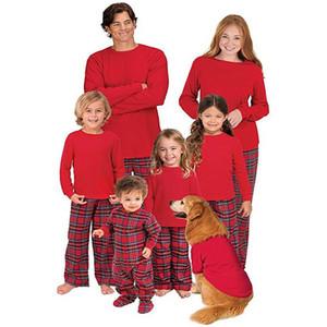 PajamaGram Aile Pijama Ebeveynler çocukları Eşleştirme Noel Pijama Pamuk Fanila Ekose bebek kız erkek Pijama homewear pijamalar