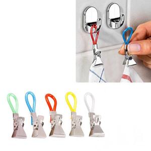 5PC crochet débarbouillette pompe murale de cuisine clip Clips durable Hanging serviette clip sur crochet boucles salle de bain porte serviette à la main
