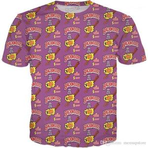 تصميم الموضة الصيفية 19s جديد Tees Hot Tees قصيرة الأكمام Mens Backwood 3d Tshills