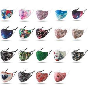 progettista faccia maschera riutilizzabili maschere naso divertenti mascherine alta moda stoffa lavabile nero rosso cielo stellato maschera per adulti camo delfino delfino