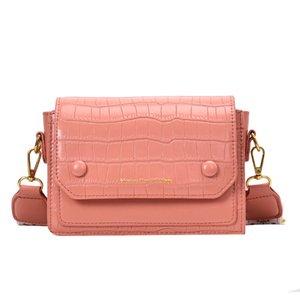 Kadın çantası 2020 yeni dalga geniş omuz askısı omuz çantası moda vahşi diyagonal küçük kare üst düzey duyu bayanlar çanta