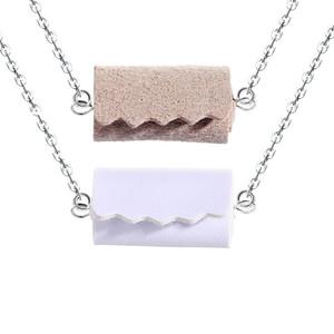 Aseo de cuero pendientes de gota pendientes del collar de rollo para las mujeres creadoras de tejidos joyería geométrica manera del pendiente del rollo de papel pendientes del collar
