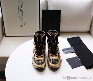 2020 Luxury platform Fashion Designer Men Women shoes sneakers Leather Velvet black White Red Flat casual shoes Platform Trainers